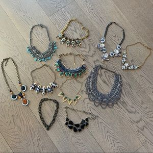 All 11 statement necklaces from various brands